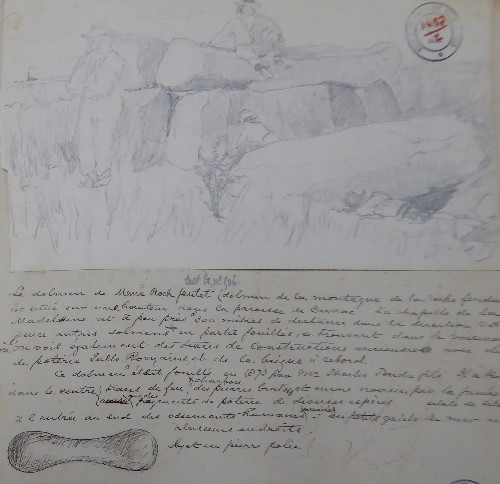 Extrait du carnet de note d'un archéologue amateur