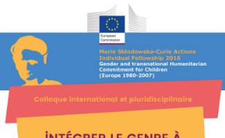 """Affiche du colloque """"Intégrer le genre à l'histoire de l'aide humanitaire"""""""