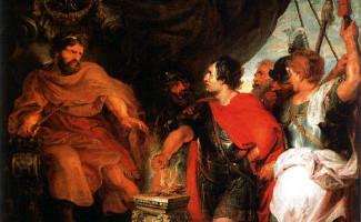 """Mucius Scaevola devant le roi Porsenna: illustration de l'appel à communication du colloque """"Blessures aristocratiques: du corps à l'honneur"""""""