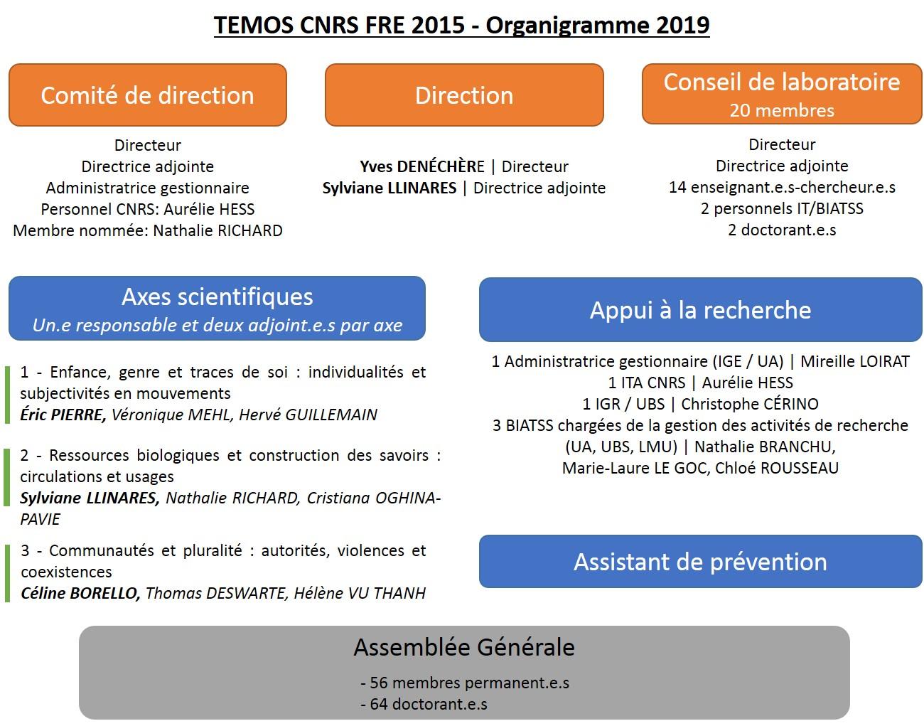 Organigramme de TEMOS