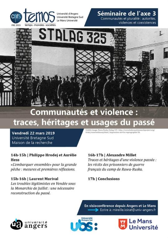 Séminaire axe 3 TEMOS Communautés et violence