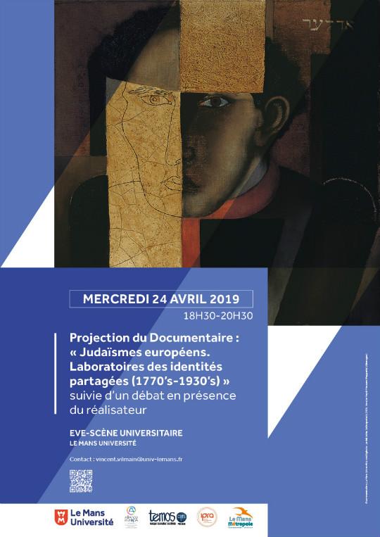 """Projection du documentaire """" Judaïsmes européens (1770-1930). Laboratoires des identités partagées"""""""
