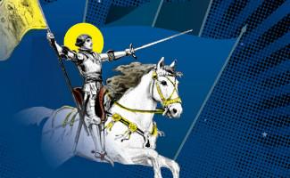 image de l'affiche de l'exposition Les saints guerriers