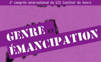 """Affiche du Congrès de l'Institut du Genre """"Genre et émancipation"""""""