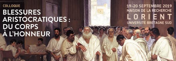 Affiche du colloque Blessures aristocratiques