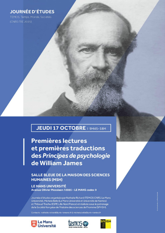 Affiche de la journée consacrée à William James