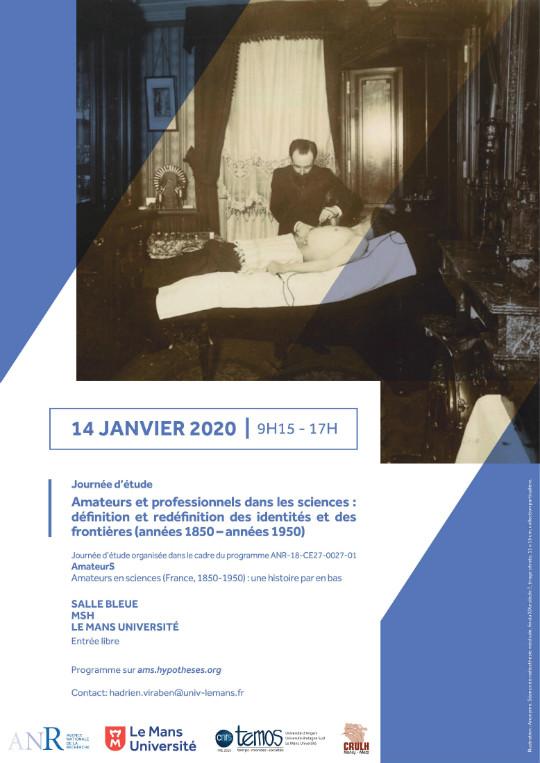 Amateurs et professionnels en sciences: affiche de la journée d'étude
