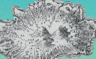 Carte ancienne illustrant la Journée d'étude sur la nature insulaire