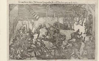 Mémoires honteuses - Gravure illustrant le massacre de Nîmes en 1567