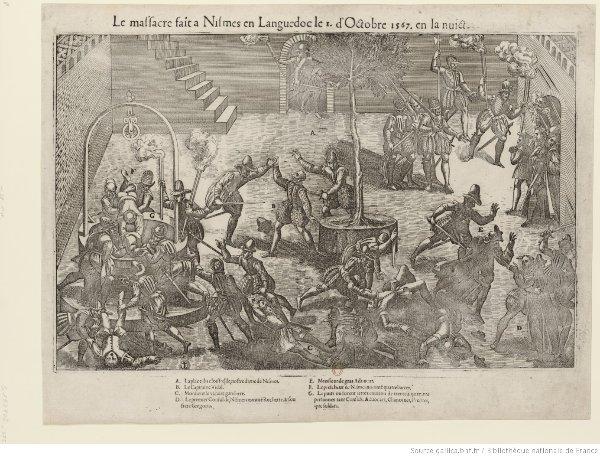 Mémoires honteuses - Gravure du massacre de Nîmes en 1567